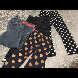 Other - 3 pairs leggings girls' 4T and Gymboree jeans